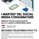 WEBINAR 25/05/2021 H 15 – Abbonamenti Pay TV e telefonia: la riconsegna degli apparati